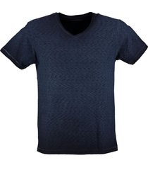 petrol stevig blauw t-shirt valt kleiner