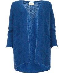 wollen vest fogwood  blauw