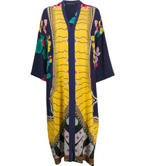 etro oversized kaftan dress - blue