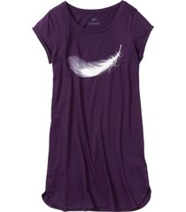 camicia da notte in cotone biologico (viola) - bpc bonprix collection