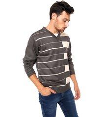 sweater gris moni tricot