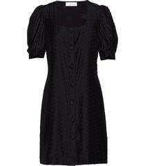 emma puff dress knälång klänning svart storm & marie