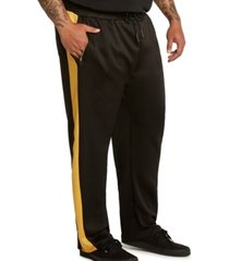 mvp collections men's big & tall side stripe track pants