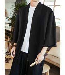 incerun kimono japonés para hombre dragón cárdigan de frente abierto con estampado