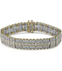diamond multi-row fancy link bracelet (5 ct. t.w.) in 10k gold