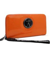 billetera naranja buda