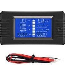 comprobador de baterías digital detector dc voltios amperios de capaci