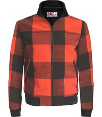 red and black checked mid season jacket wool effect