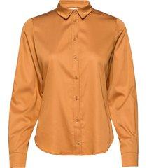 binakb fitted shirt overhemd met lange mouwen oranje karen by simonsen