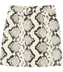 alessandra rich python print leather mini skirt