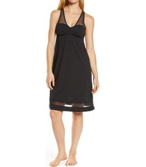 women's lusome erin nightgown, size medium - black