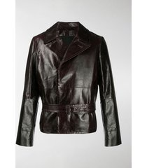 ann demeulemeester belted double breasted jacket