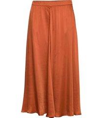 satin circle skirt knälång kjol orange by ti mo