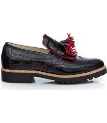 skórzane półbuty zapato 247 cz.naplak