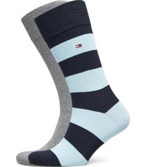 th men rugby sock 2p underwear socks regular socks blå tommy hilfiger