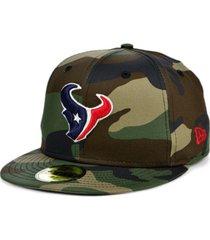 new era houston texans woodland 59fifty cap