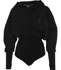 opening ceremony bonded bodysuit hoodie
