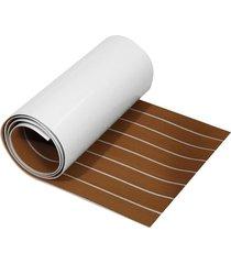 eva barco de suelo de imitación de imitación de teca plataforma pad hoja - blanco