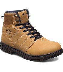high cut shoe new upstate snörade stövlar beige champion