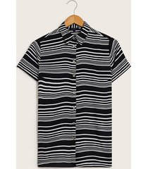blusa camisera líneas negro 10