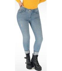 pantalón jeans dama azul claro di bello jeans ® classic jeans j524