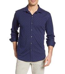 men's bugatchi floral knit button-up shirt