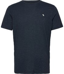 icon crew t-shirts short-sleeved blå abercrombie & fitch