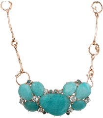 amazonite necklace with aquamarines