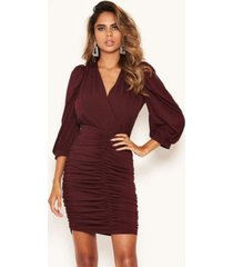 ax paris women's ruched bodycon dress with cut out back