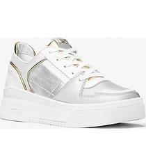 mk sneaker lexi in pelle bicolore - argento (argento) - michael kors
