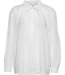 ruth emb blouse ls blouse lange mouwen wit tommy hilfiger