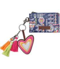sakroots critter card holder with keychain