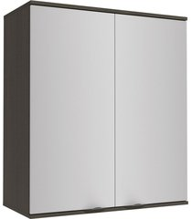 armário aéreo cozinha 80 cm nox  2 portas onix/steel - kappesberg