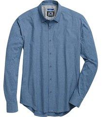 joe joseph abboud men's blue dot sport shirt - size: medium