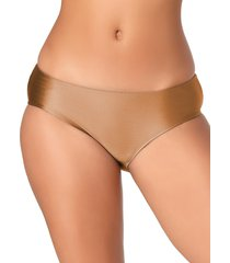 anne cole women's ruched-back bikini bottom - bronze - size xs