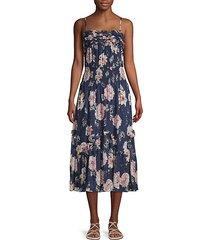 floral silk blend midi dress