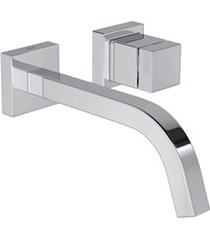torneira para lavatório de parede cubo cromada