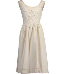 sleeveless round neck fitted waist dress