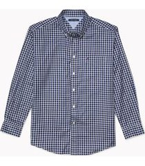 tommy hilfiger men's adaptive classic fit check shirt navy/bright white - xl