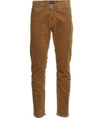 d1. slim cord jeans slim jeans bruin gant