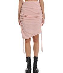 laneus skirt in rose-pink wool