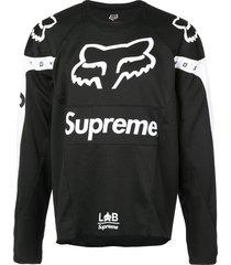 supreme fox racing moto jersey top - black