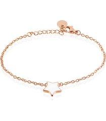 bracciale lady sweet acciaio rosato stella marina per donna