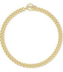 """kendra scott 14k gold-plated cubic zirconia large link 18"""" chain necklace"""
