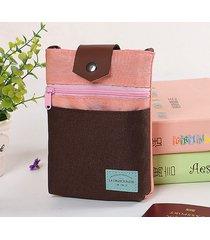patchword casual nylon telefono da 5,5 pollici borsa borsa a tracolla borsas custodia per passaporto borsa