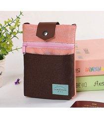 sacchetto di spalla di passaporto della borsa della borsa della borsa della borsa della borsa del nylon 5.5inch casuale di patchword
