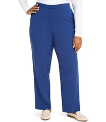 alfred dunner plus size sapphire skies pull-on pants