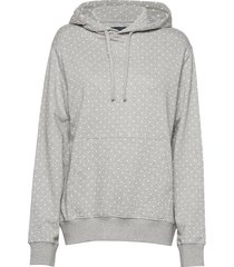 dotted drawstring hoodie jrsy hoodie trui grijs french connection