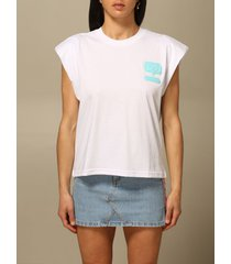 chiara ferragni t-shirt chiara ferragni t-shirt with padded shoulder straps