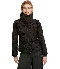 parka desigual negro - calce regular